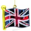 British Union Jack Flag Glass Ornament
