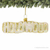 Hollywood Sign Glass Ornament