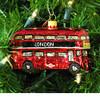 Double Decker Bus, London Ornament - Glass
