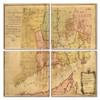 Connecticut Map Coaster Set of 4