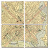Washington DC Map Coaster Set of 4