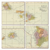 Hawaii Map Coaster Set of 4