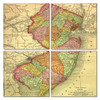 New Jersey Map Coaster Set of 4