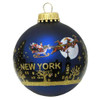 Santa Claus Christmas NYC Skyline Ornament