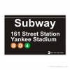 Yankee Stadium Subway Magnet