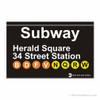 Herald Square Station Subway Magnet