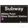 Shea Stadium Subway Sign