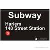 Harlem Replica Subway Sign