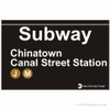 Chinatown Replica Subway Sign