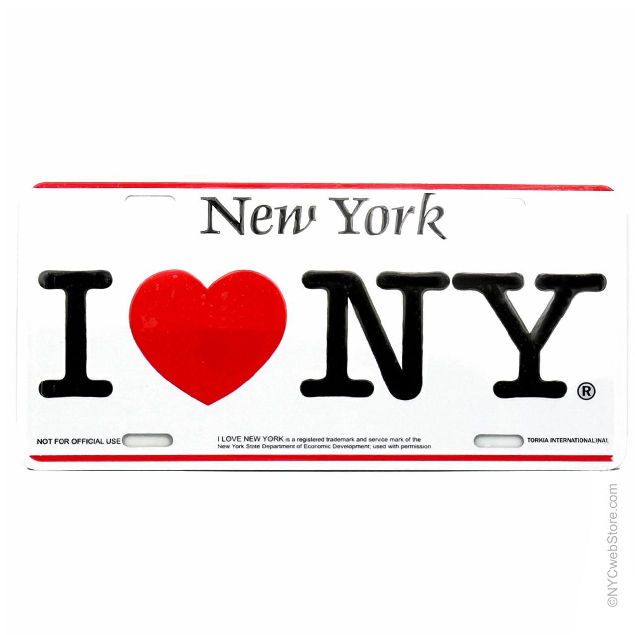 I love ny license plate for cars car i love ny license plate made of aluminum tin officially licensed thecheapjerseys Images
