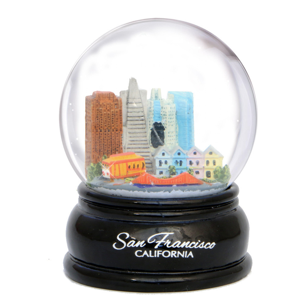 San Francisco Snow Globes With Golden Gate Bridge