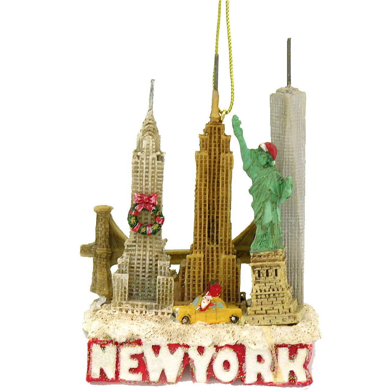 New york city landmark and skyline christmas ornament Latest christmas decorations
