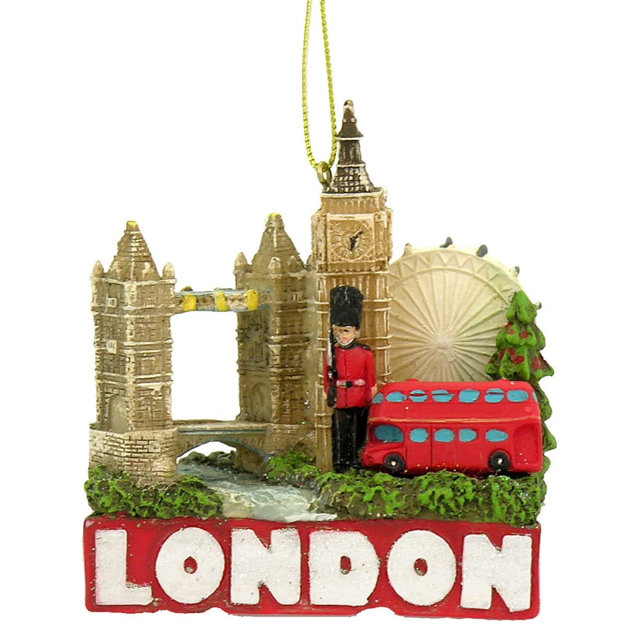 London Skyline and Landmarks Christmas Ornament