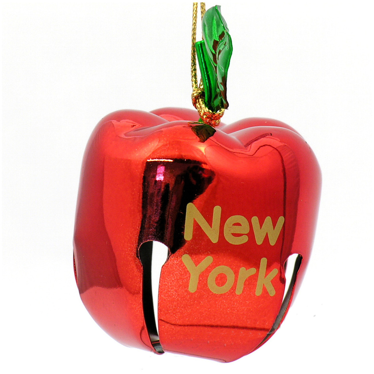 New York Apple Bell Ornament