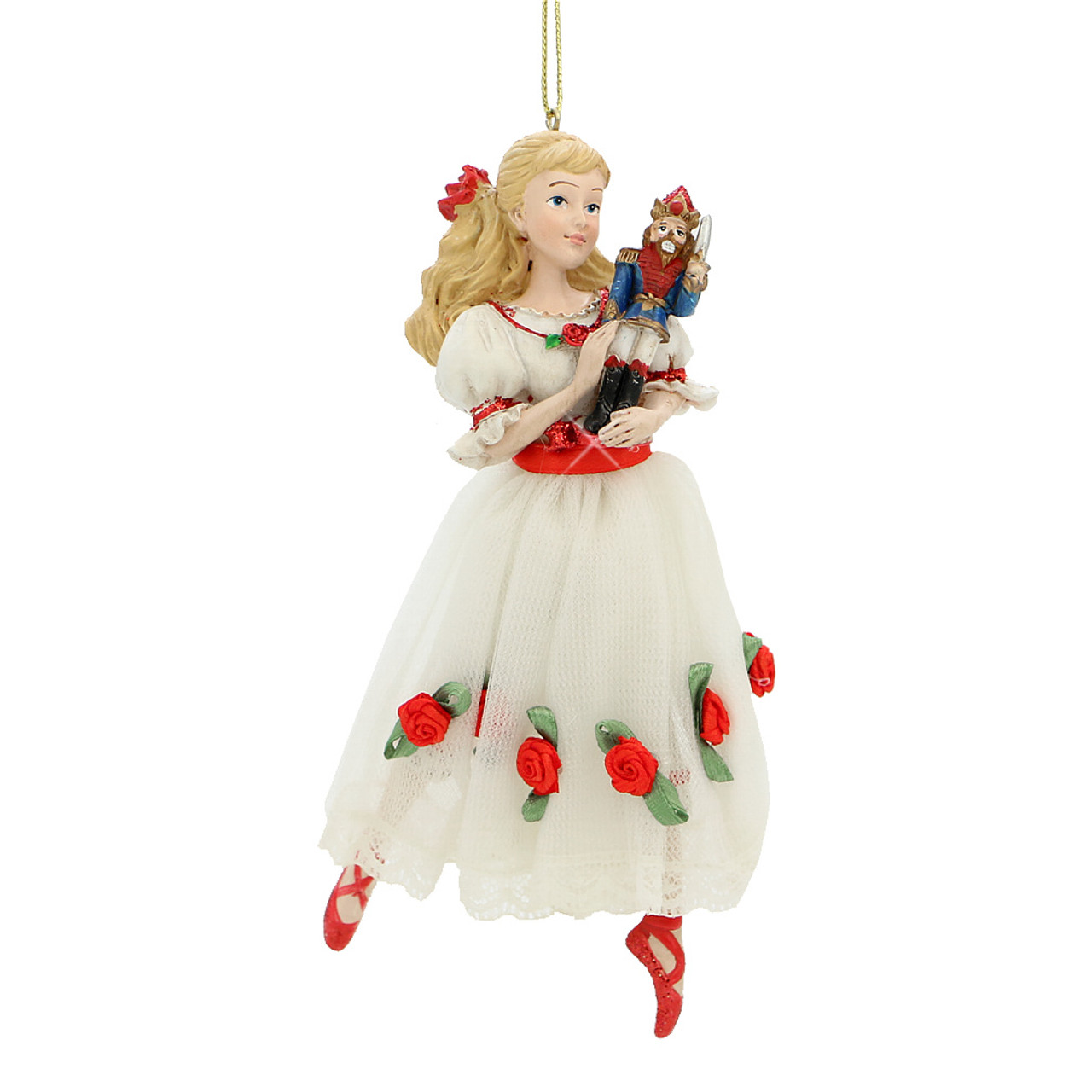 clara and nutcracker christmas tree ornament - Nutcracker Christmas Ornaments