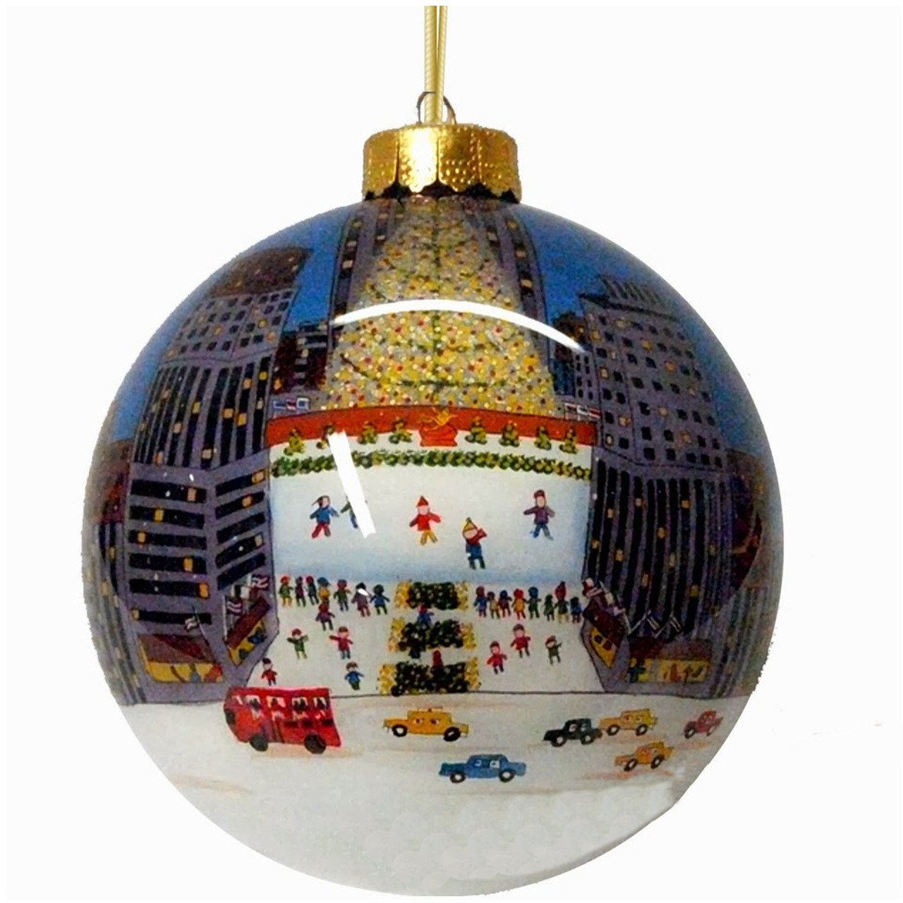 Rockefeller Center Glass Ball Christmas Ornament