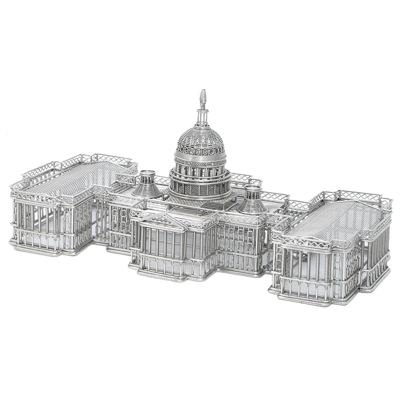United States Capitol Wire Model, Steel Replica