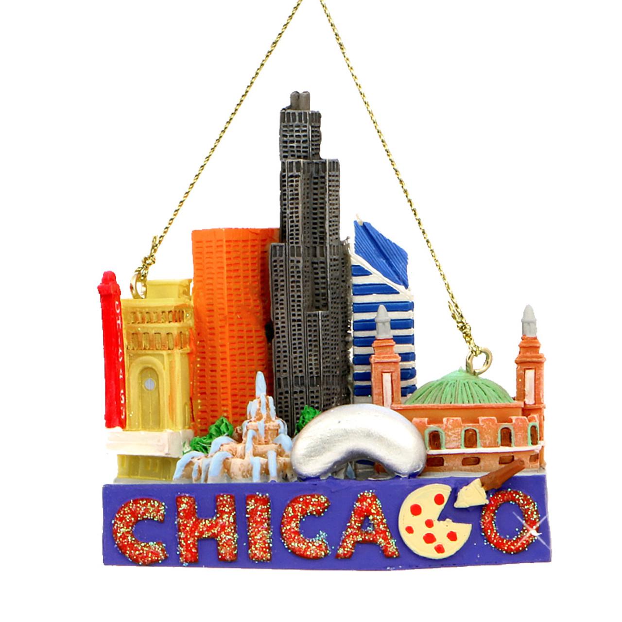 chicago landmarks christmas ornament - Chicago Christmas Ornament