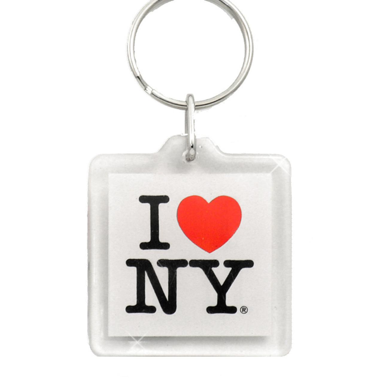 I love ny plastic key chain altavistaventures Choice Image
