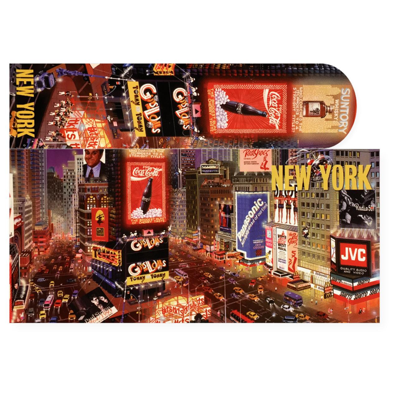times square postcard bookmark