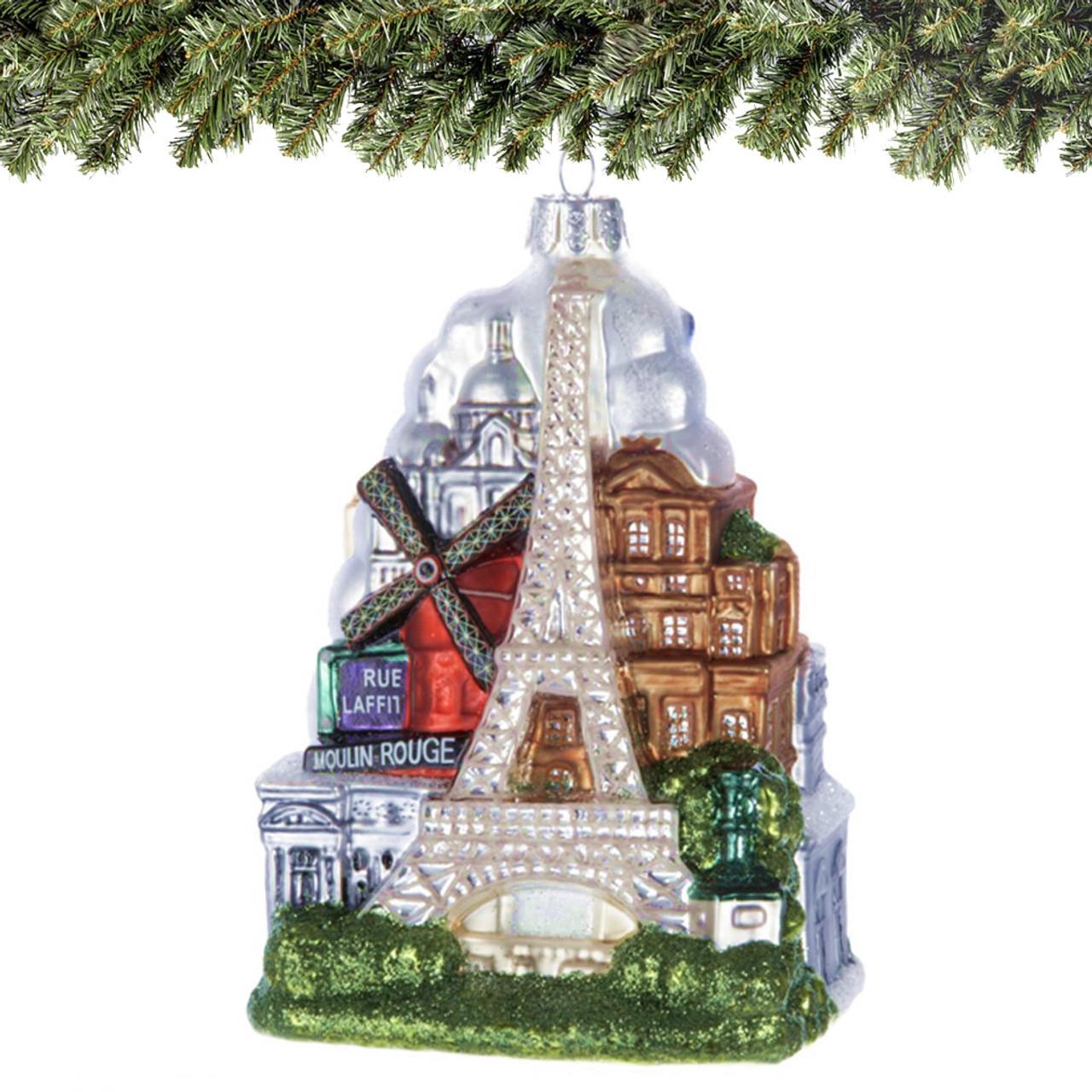 Paris Glass Ornament
