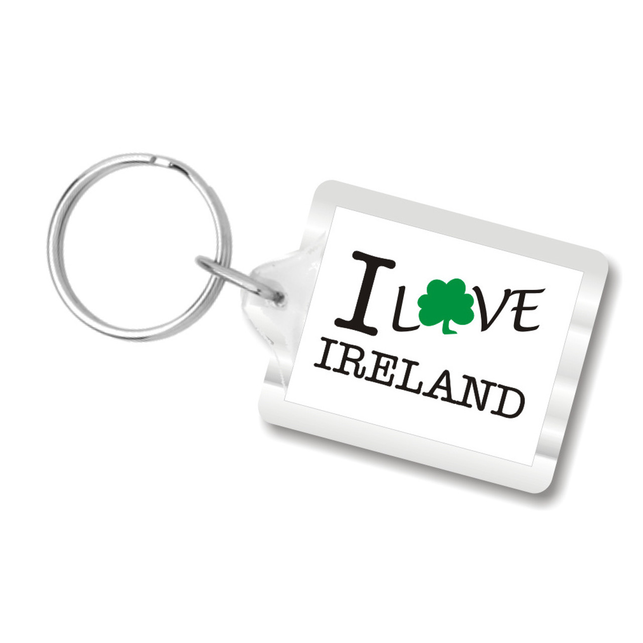 I Shamrock Ireland Plastic Key Chain