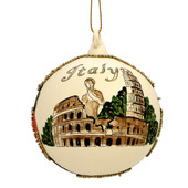 Italy Christmas Ornament - Glass Ball