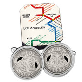 Los Angeles Transit Token Cufflinks
