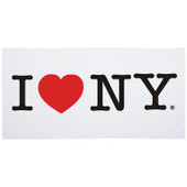 I Love NY Beach Towel - White