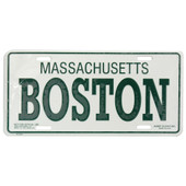 Boston License Plate
