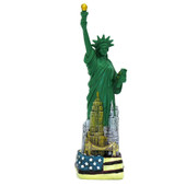 Statue of Liberty Statue with Flag Base 6 Inches