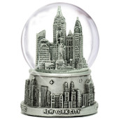Medium Silver New York City Skyline Snow Globe