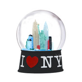 I Love NY Snow Globe 65mm - Black