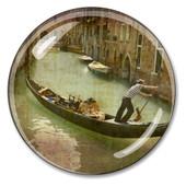 Venice Gondola Crystal Italian Paperweight
