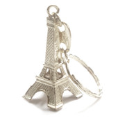 Silver Eiffel Tower Key Chains