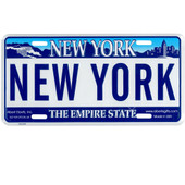 New York License Plate, Novelty Souvenir New York City License Plate