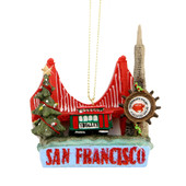San Francisco Landmarks Christmas Ornament