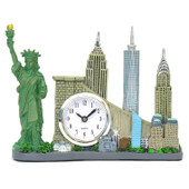 Replica Skyline New York City Landmarks Clock