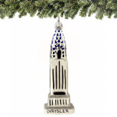Chrysler Building Glass Ornament