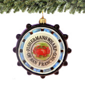 Fisherman's Wharf Glass Ornament