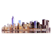 New York City Downtown Skyline Acrylic Magnet