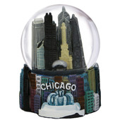 Chicago Fountain Snow Globe Skyline 65mm