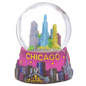 Mini Chicago snow globe 2.5 inches tall