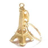Gold Eiffel Tower Key Chains 12 Pack