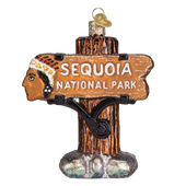 Sequoia National Park Glass Ornament