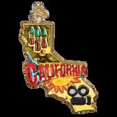 State Of California Landmarks Glass Ornament