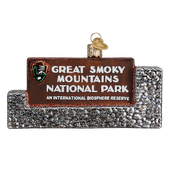 Great Smoky Mountains National Park Glass Ornament