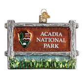 Acadia National Park Glass Ornament