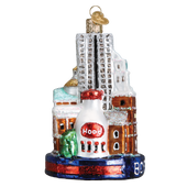 Boston Landmarks Glass Ornament