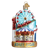 Jersey Shore Landmarks Glass Ornament